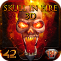 Skull in Fire 3D Interactive icon