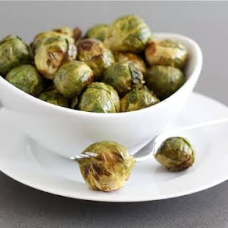 Roasted Brussels Sprouts with Balsamic Vinegar.
