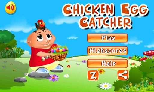 Chicken egg Catcher: Farm Game