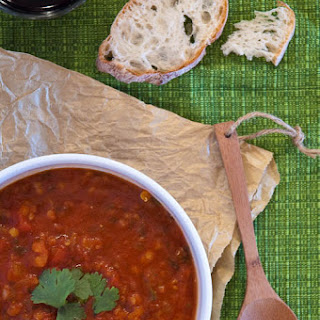 Spiced Tomato Soup with Red Lentils Recipe