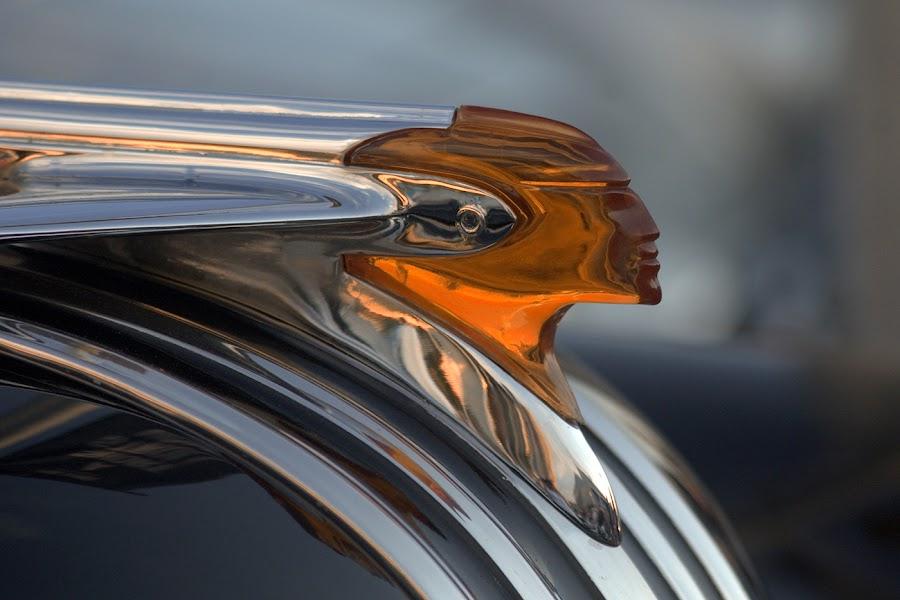 Chrome Head by Tracy Hughes - Transportation Other ( colour, car, orange, figure, chrome, head,  )