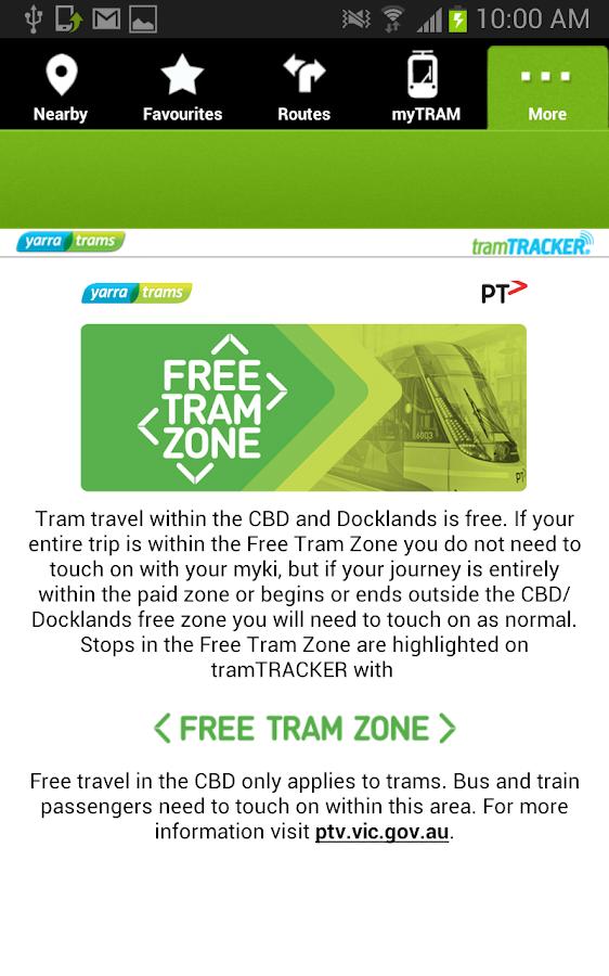 tramTRACKER - screenshot