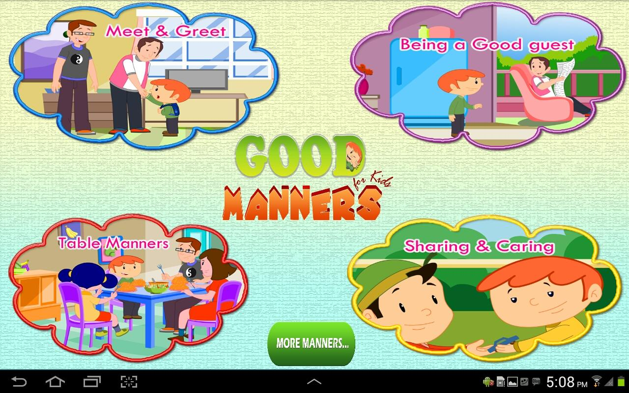 good manners for kids   android apps on google playgood manners for kids  screenshot