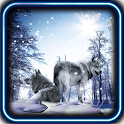 Snow Wolf HD live wallpaper icon