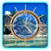 Travel Compass Clock Wallpaper