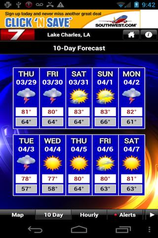 KPLC 7 StormVision Weather - screenshot