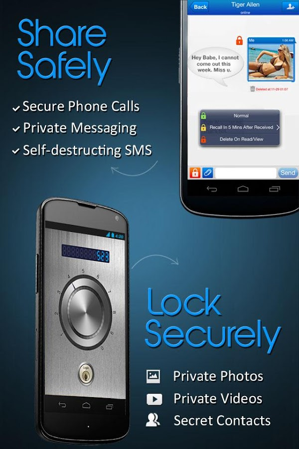 Private Texting & Call - Hide SMS, Photos Secretly- screenshot