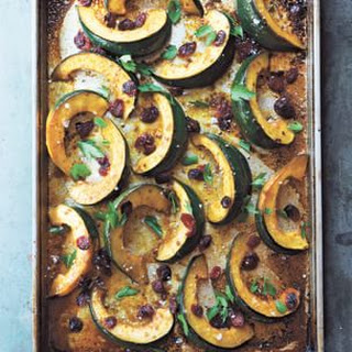 Orange-Glazed Acorn Squash and Cranberries