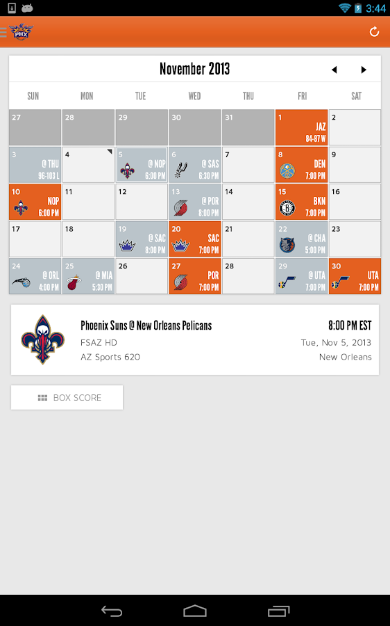 Phoenix Suns Mobile - screenshot