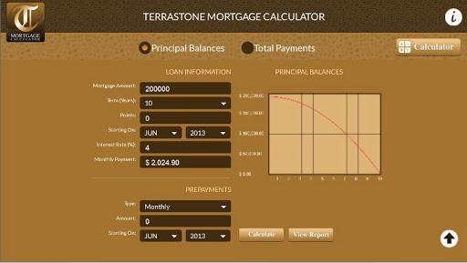 Terrastone Mortgage Calculator