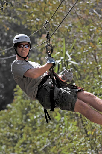 Windstar-Cruises-zipline-Costa-Rica - You only live once! Hold on and enjoy a zipline at Playas del Coco in Costa Rica during a Windstar Cruises day trip.