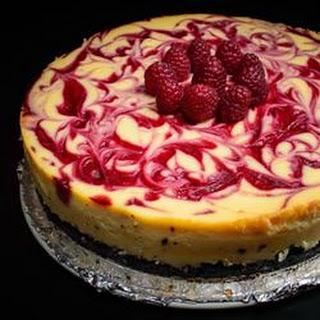 Valentine's White Chocolate Raspberry Cheesecake