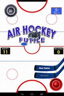 Air Hockey Futile