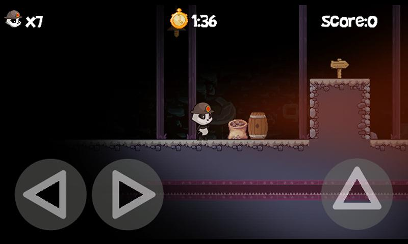 PandaVenture Retro Platformer - screenshot