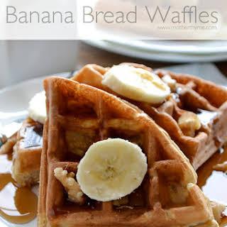 Banana Bread Waffles.