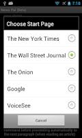 Screenshot of News Pal™ (voice browser)