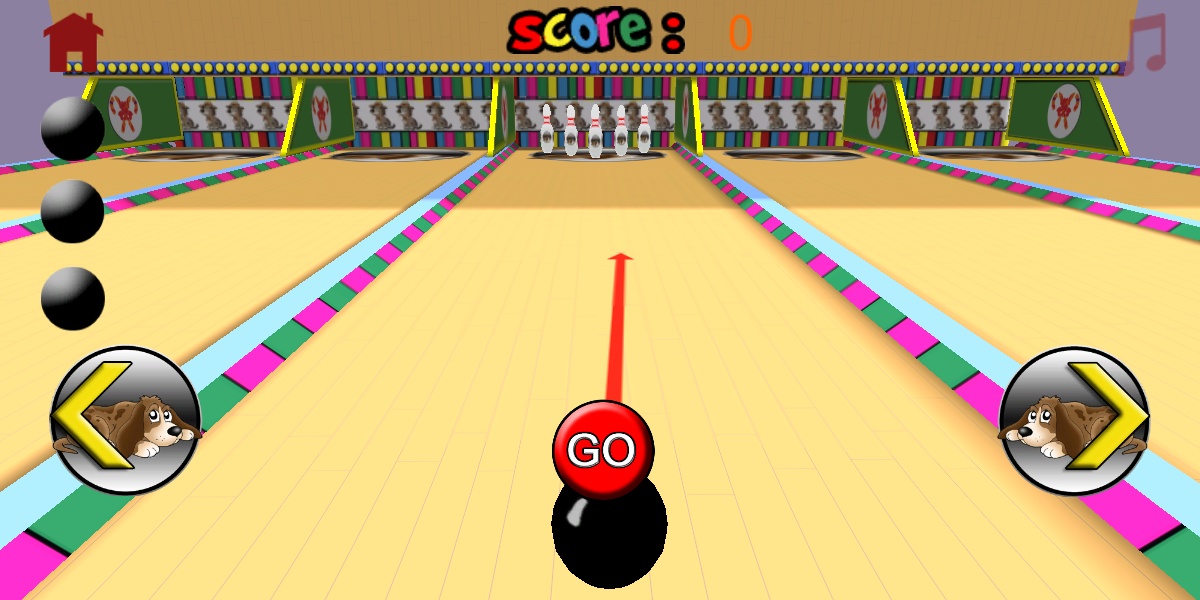 Dog bowling for kids- screenshot