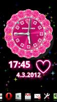 Screenshot of [Free]CUTE QLOCK Pink Diamond