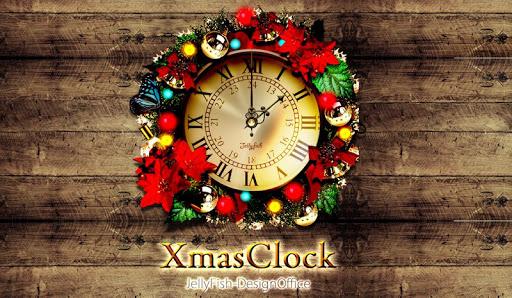 ビンテージ・クリスマス時計ウィジェット