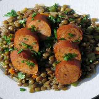 Lentils with Andouille Sausage.