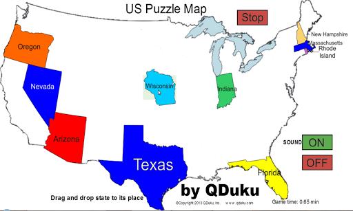 【免費教育App】US States Map Puzzle Game-APP點子