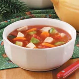 Chunky Chicken Veggie Soup