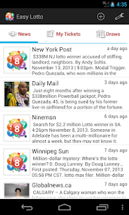 Easy Lotto - Oz Lotto resutls - screenshot thumbnail