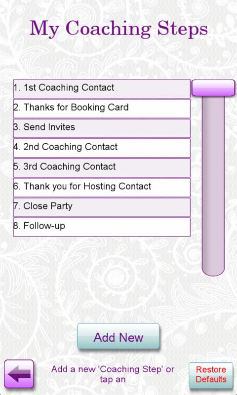 Hostess Coaching - screenshot