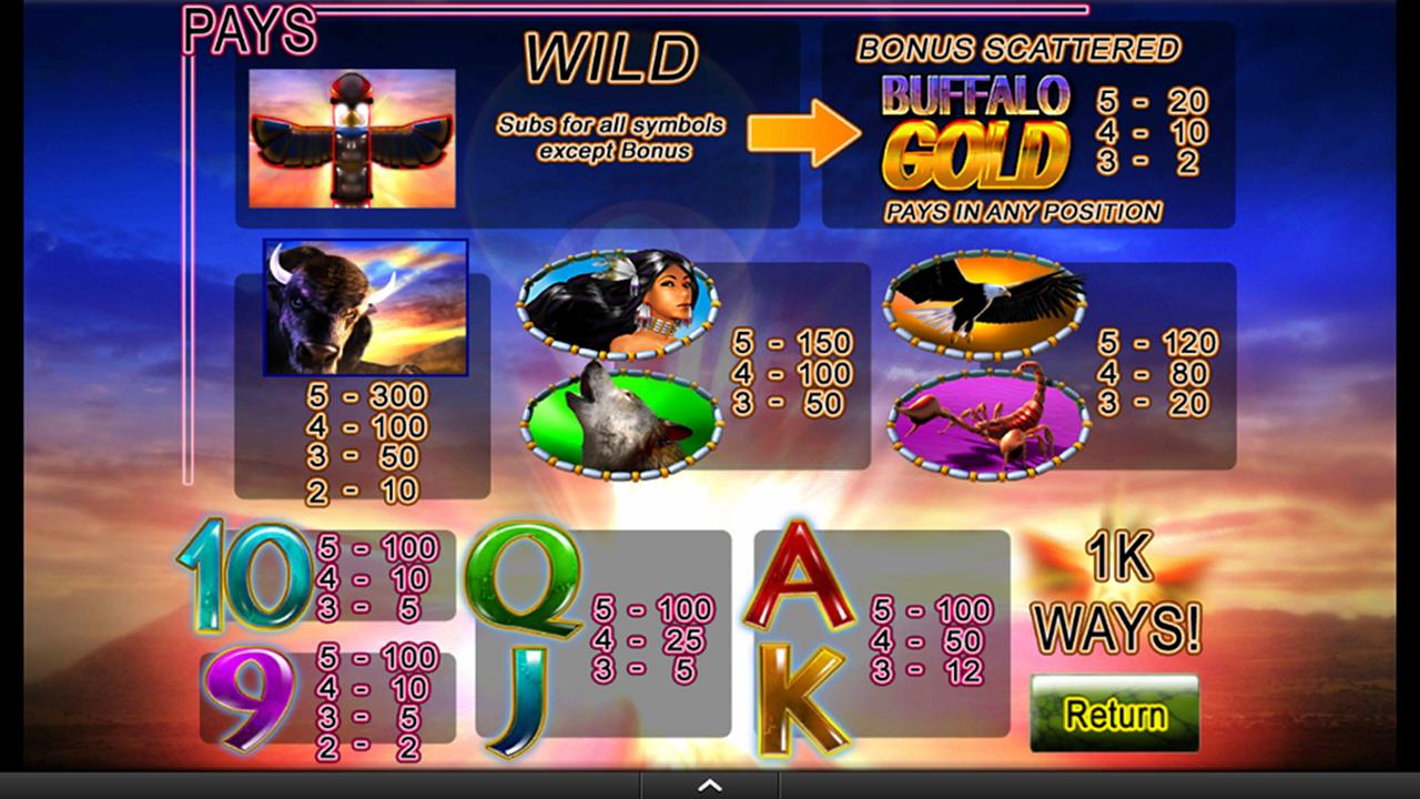 buffalo gold slot free