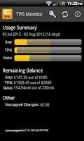 Screenshot of TPG Monitor