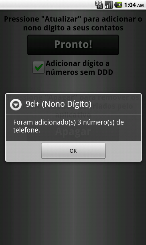 9d+ (Nono Dígito)- screenshot