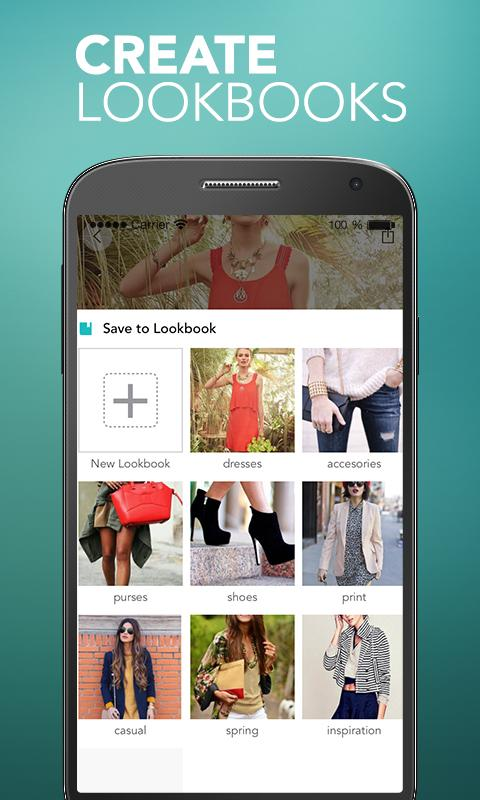 Styletag - Shopping Lookbook - screenshot