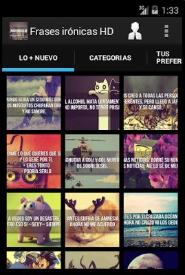 Frases irónicas HD - screenshot