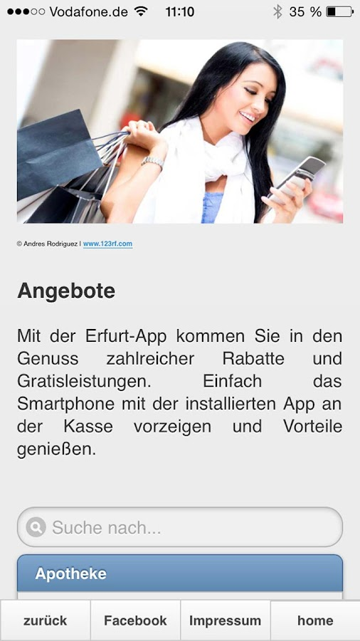 Erfurt App- screenshot
