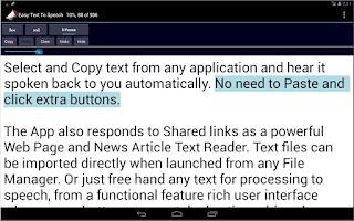 Screenshot of Easy Text To Speech