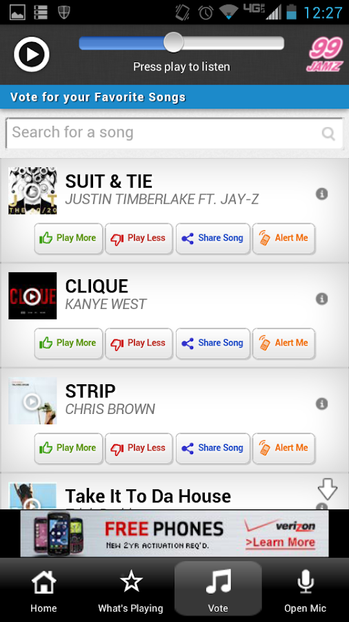 99 Jamz - screenshot