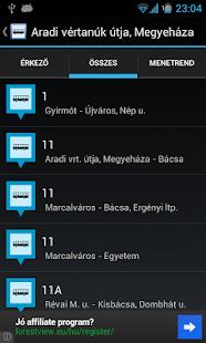 Kisalföld menetrend online - screenshot thumbnail