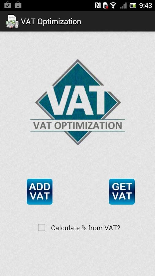 VAT Optimization - screenshot