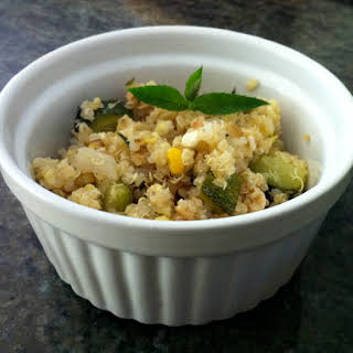 Quinoa Salad with Grilled Corn.