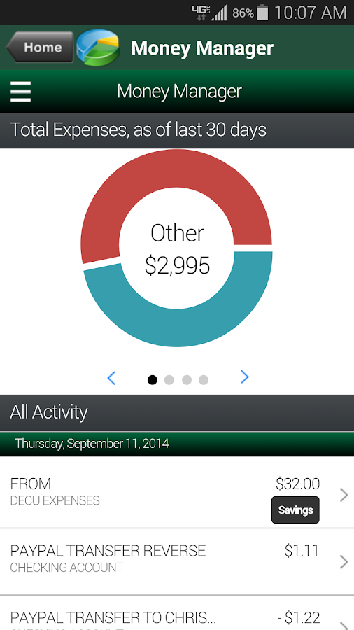 Deere Employees CU mBanking - screenshot