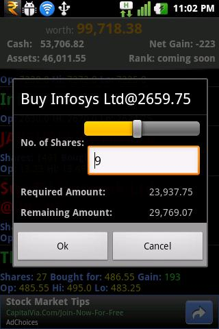StockINDIA Trading GAME - screenshot