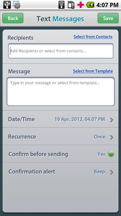 Future Scheduler- screenshot