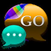 GO SMS CyanOrange Cobalt Theme