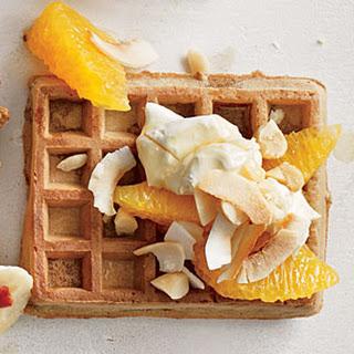 Creamy Coconut-Citrus Waffle