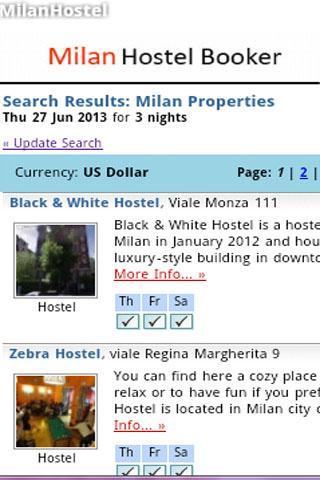 Milan Hostel Booking