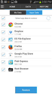 G Cloud Apps Backup Key * root - screenshot thumbnail