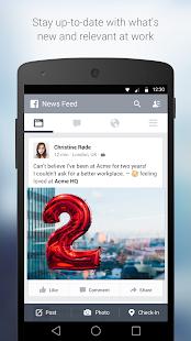 Facebook at Work Screenshot 1