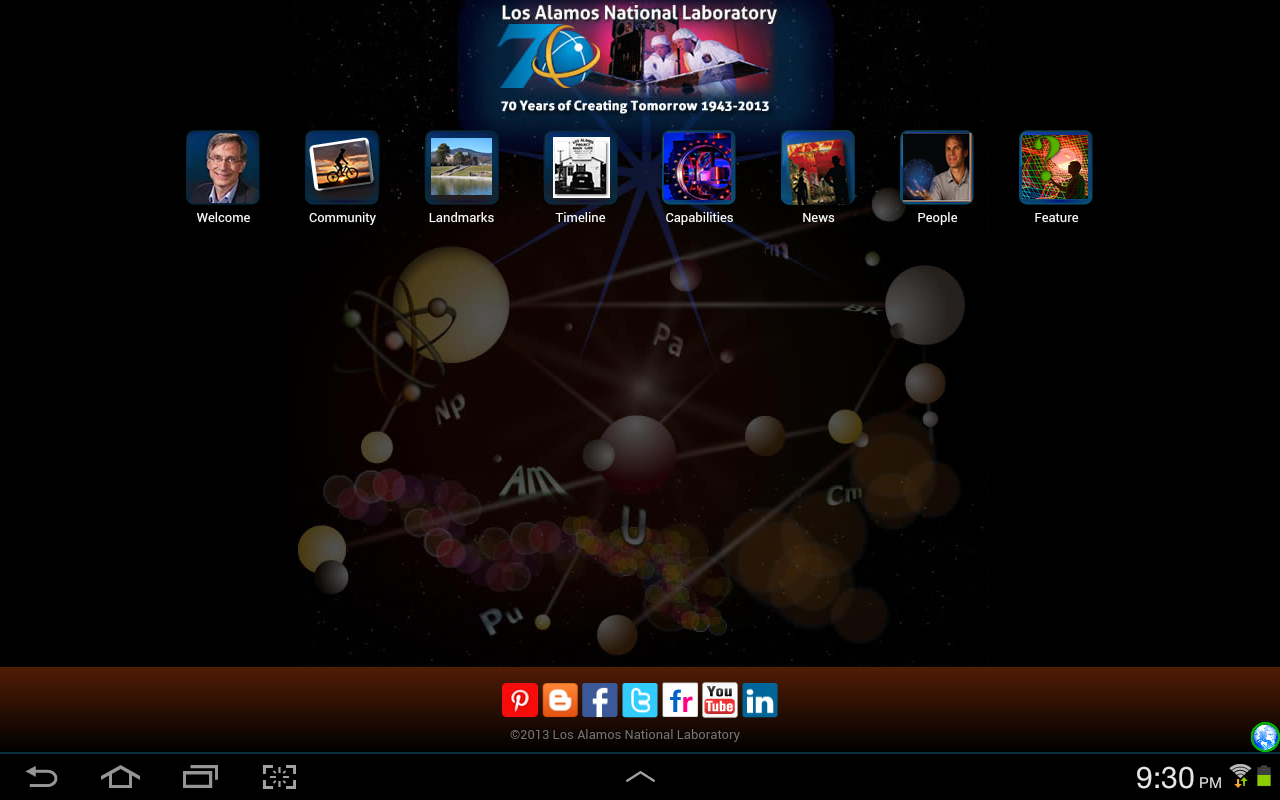 LANL App - screenshot