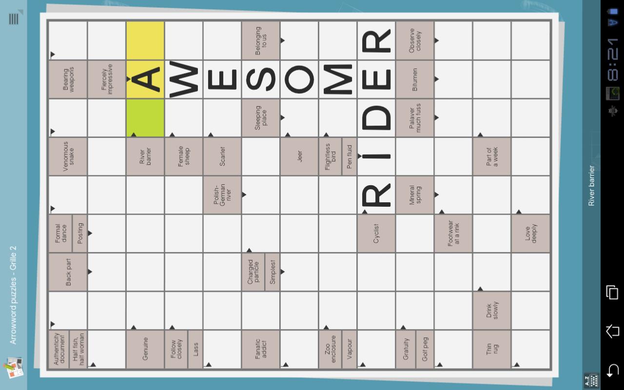 grid games crossword sudoku screenshot
