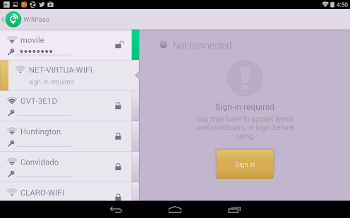 WifiPass - Free internet - screenshot thumbnail
